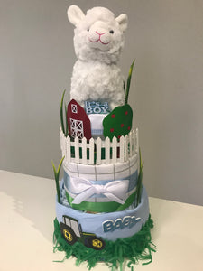 Farm Nappy Cake
