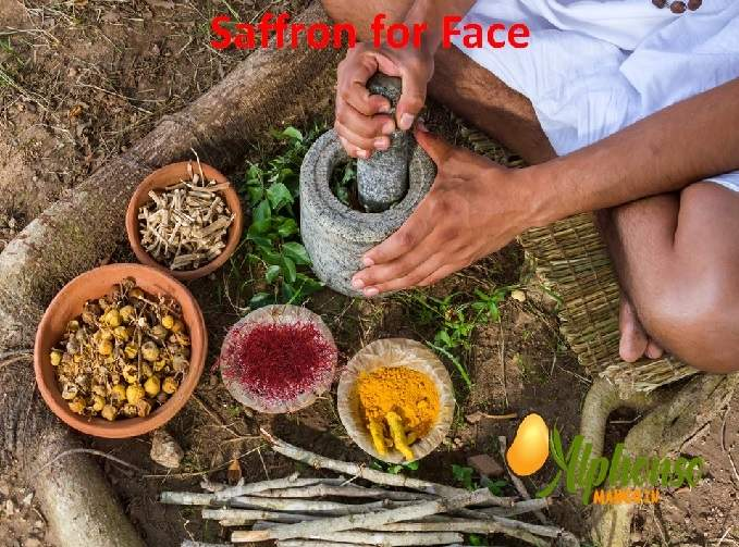 Saffron for Face, Saffron on Face