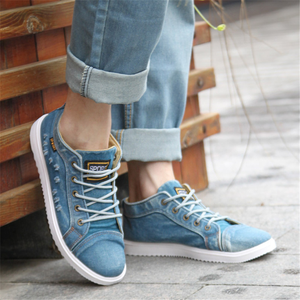 Men's canvas high-top casual shoes