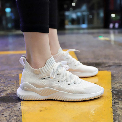 Women's flying woven versatile breathable sneakers