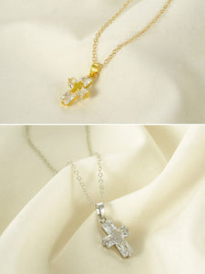 Alloy Chain Cross Pendant Necklace