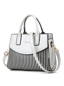 Vertical Striped Shoulder Bag