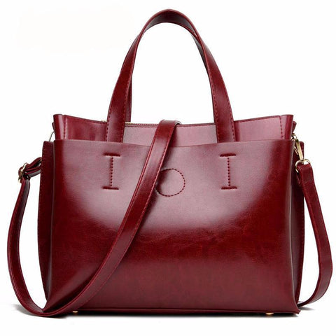 Women Fashion  Leather Pochette Shoulder Big Bag