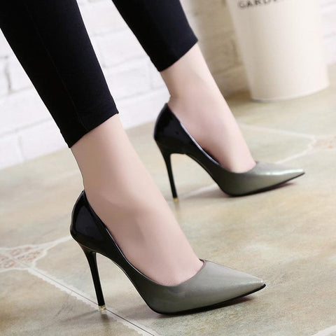 Sexy High Stiletto Heel PU Leather Women's Shoes