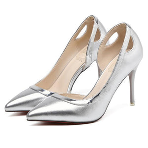 Elegant Pointed Slim Heels Wedding Party Shoes