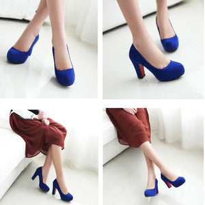 New 2018 Style Pure Color High Heels OL/Party Shoes