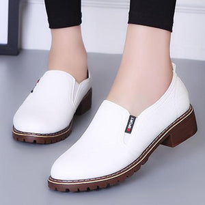 Plain  Mid Heeled  Round Toe  Basic Date Flat & Loafers