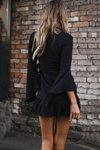 Sexy Fashion Long Sleeves Mini Dress