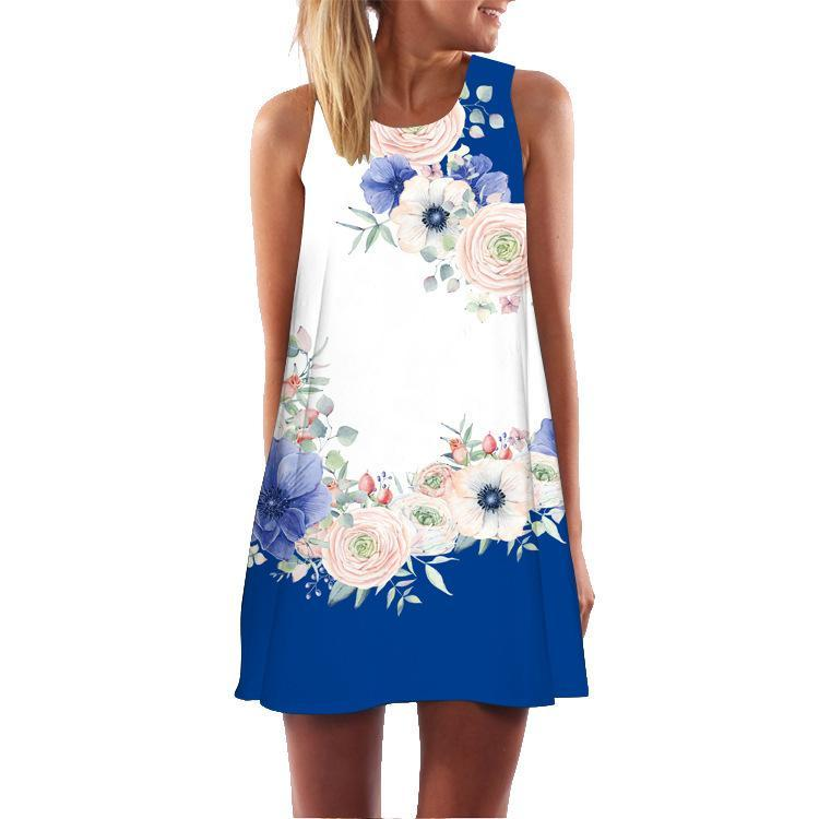 Printing Crew Neck Strapless Playsuit