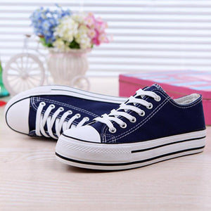 Plain  Flat  Criss Cross  Round Toe  Casual Sport Sneakers