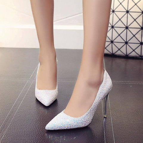 Stylish Sequins Simple Style High Heels