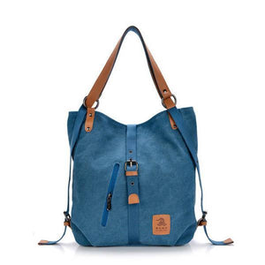 Women Canvas Multifunctional Microfiber Leather Shoulder Bag