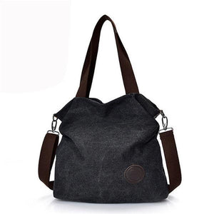 Women Casual Canvas Large Capacity Handbag Outdoor Shoulder Bags