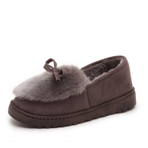 Winter Women Warm Slipper Round Toe Indoor Comfort Casuals