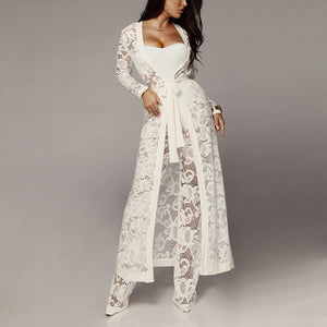 Sexy Pure Colour Lace Jumpsuit