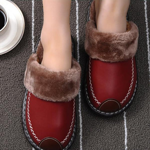 Winter Indoor Warm Thick-Soled Cotton Slippers