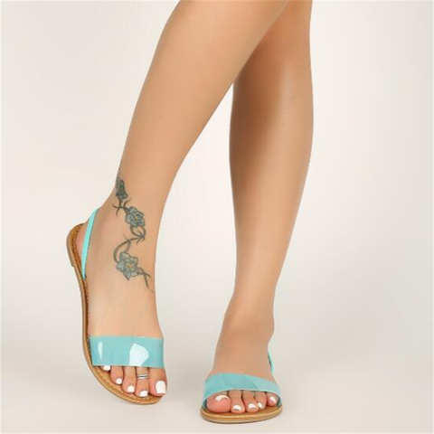 Women's  Casual PVC flat sandals