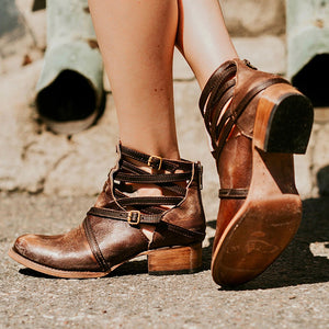 Euramerican Style Hollow Pure Color Round Toes Ankle Boots