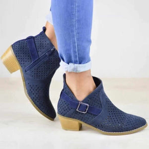 Europe And America Style Openwork Heel Boots