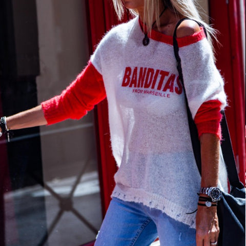 Fashion Casual Letters Printed Round Neck Long Sleeves T-Shirt