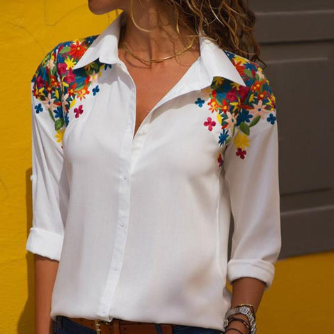 Fashion Casual Fitting Lapel Long Sleeves Shirt