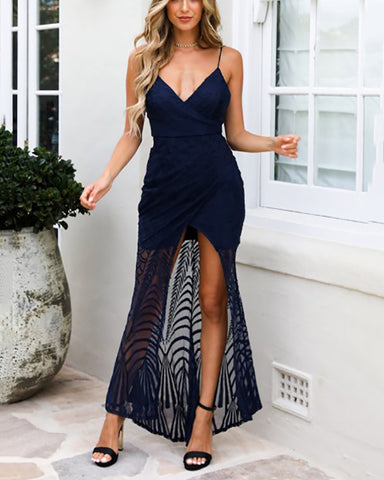 Sexy V-Neck Sleeveless Solid Color Bodycon Dresses