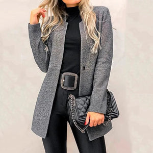 Women's Casual Long Sleeve Pure Colour Blazer