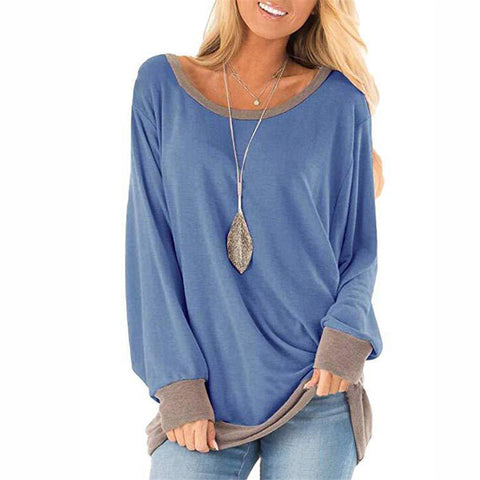 Casual Round Neck Colouring T-shirt