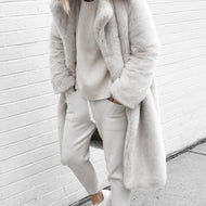 Autumn and winter fur coat