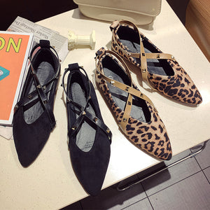 Animal Printed  Flat  Point Toe  Date Office Comfort Flats