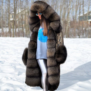 Autumn and Winter Luxury Classic High Imitation Fur Coat