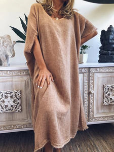 Womens Classic Casual Loose Dress