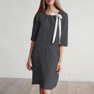 Casual Solid Color Loose Dress
