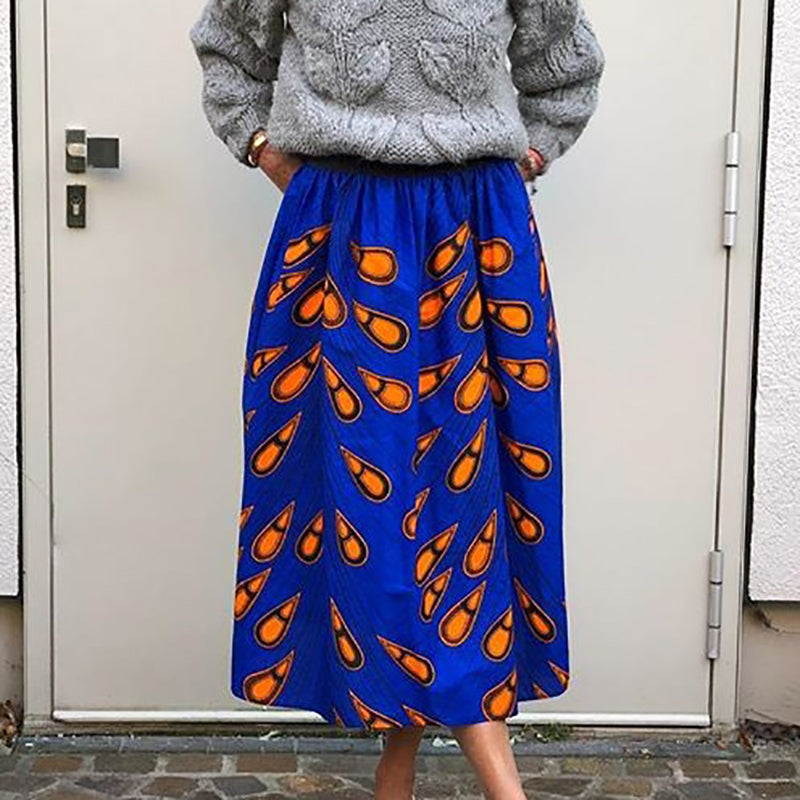 Fashion lady print skirt