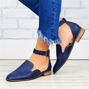 2019 Simple Hollow Artificial Leather Single Shoes
