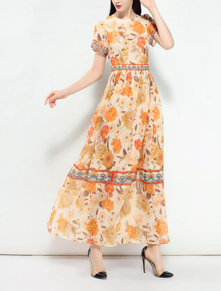 Western Style Floral Dress