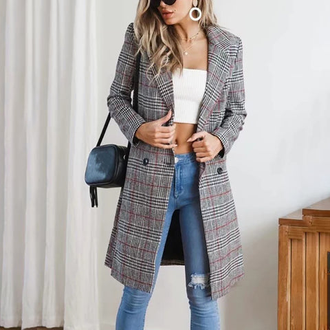 Vintage Double-Breasted Women'S Coat
