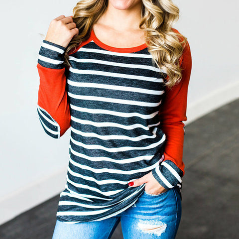 Women's Casual Striped Print T-Shirt