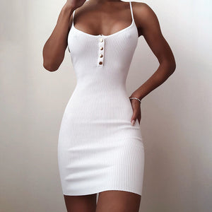 Sexy Brief  Solid Colour Bodycon Dress