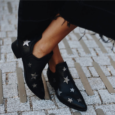 Women's Star Pointed Thick Boots