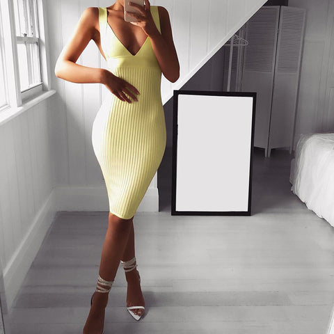 Women's fashion fit V-neck dress