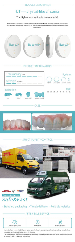 UT dental zirconia