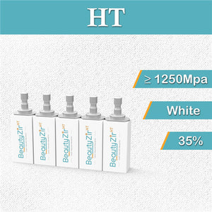 HT——White Zirconia Block Sirona System (5 pieces)