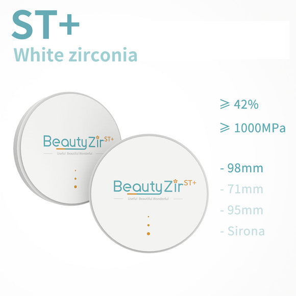 ST+——White Zirconia Disc Open system (98mm)
