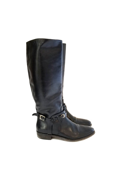 BURBERRY Black Knee-High Boots LGHW