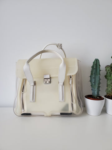 3.1 Phillip Lim Clear Pashli Satchel - Milk