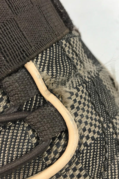 LOUIS VUITTON Brown Fabric Sneakers w/ Brown Elastic Lace SHW