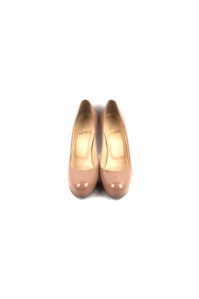 CHRISTIAN LOUBOUTIN Nude Patent Leather New Simple 100 Pumps