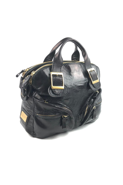 VALENTINO Black Leather Tote GHW