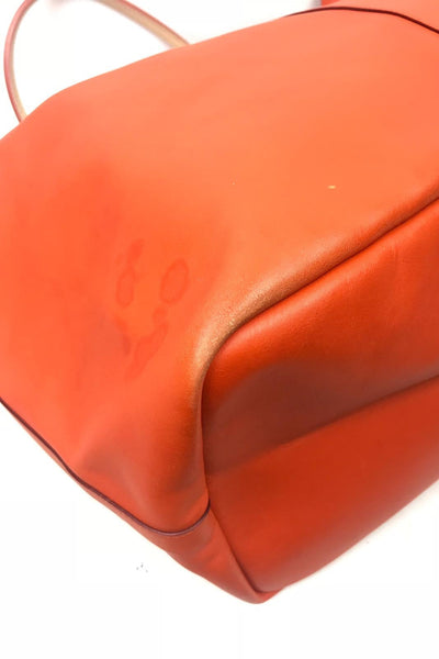 GIVENCHY Orange/ Nude Antigona Shopping Tote Calfskin w/ Pouchette GHW